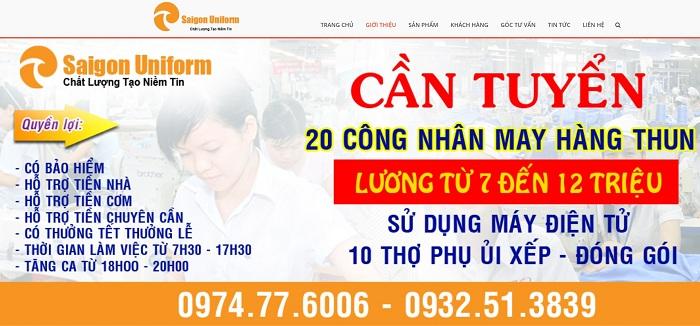 http://saigonuniform.com công ty đồng phục Saigon Uniform