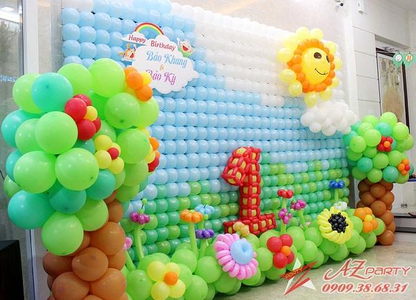 dịch vụ azparty.vn trang trí sinh nhật trọn gói