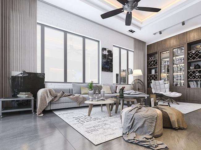 Mẫu thiết kế phòng khách công trình biệt thử The House Design