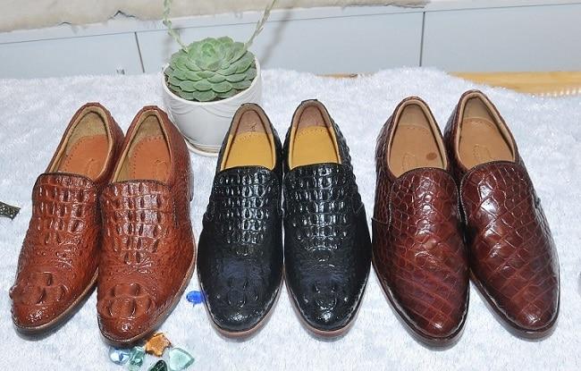 Giày da cá sấu nam tại Thế Giới Da Thật