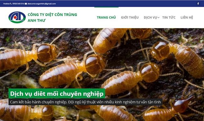 website công ty diệt côn trùng Anh Thư