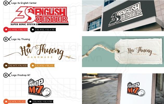 1 số mẫu logo do Dấu Chân VIệt thực hiện