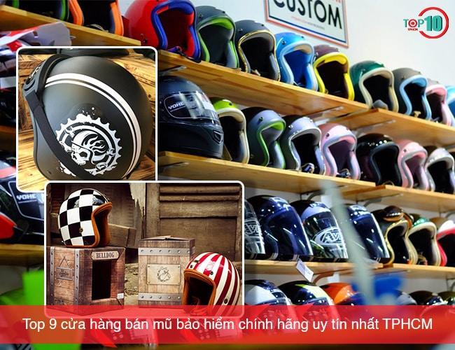 Cửa hàng bán mũ bảo hiểm tại TPHCM