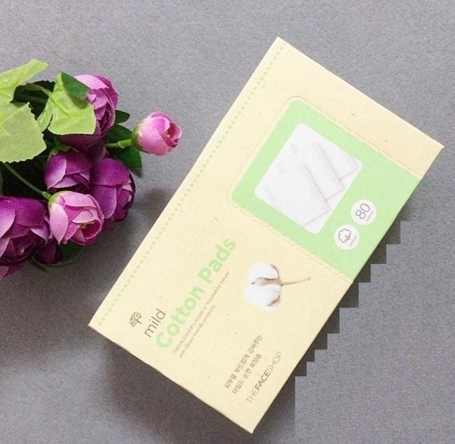 Top 10 loại bông tẩy trắng tốt nhất: Mild Cotton Pads