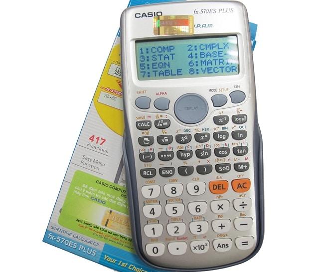 Top 3 máy tính Casio tốt nhất dành cho học sinh, sinh viên: Máy tính Casio FX570ES