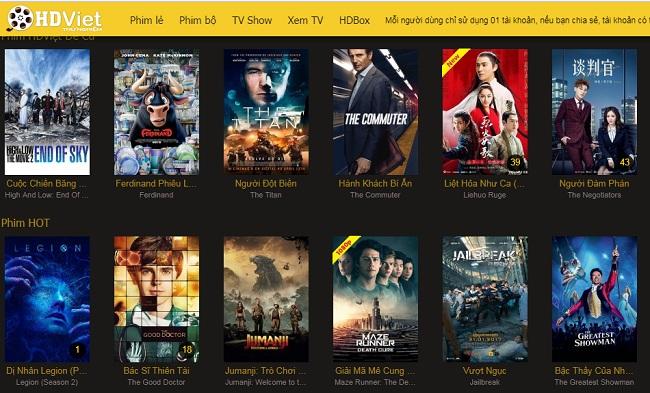 Top 10 trang web xem phim tốt nhất: HDViet
