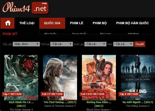 Top 10 trang web xem phim tốt nhất: Phim14