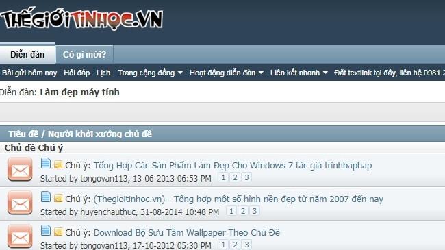 Top website diễn đàn công nghệ lớn nhất tại Việt Nam: Thegioitinhoc