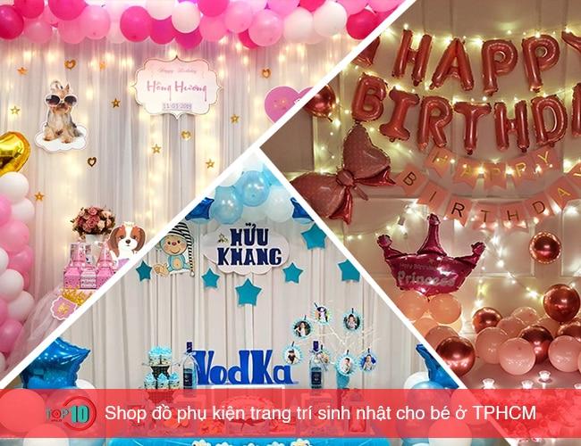 Shop đồ phụ kiện trang trí sinh nhật cho bé ở TPHCM