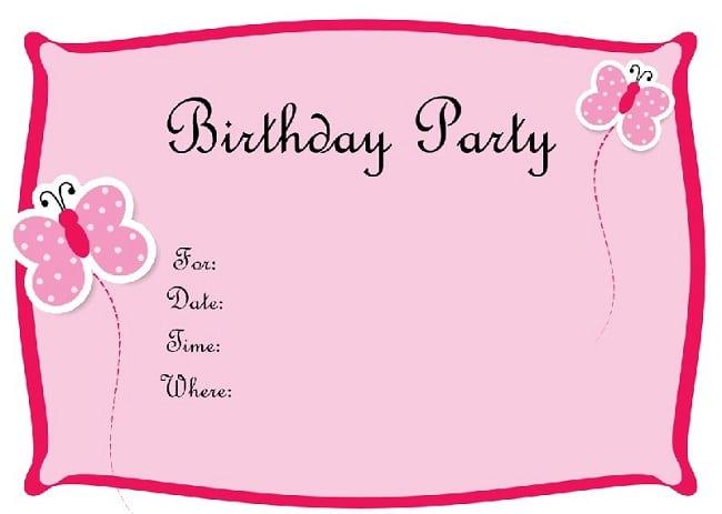 trang trí sinh nhật đơn giản tại nhà bằng thiệp mời các bé tham gia sinh nhật