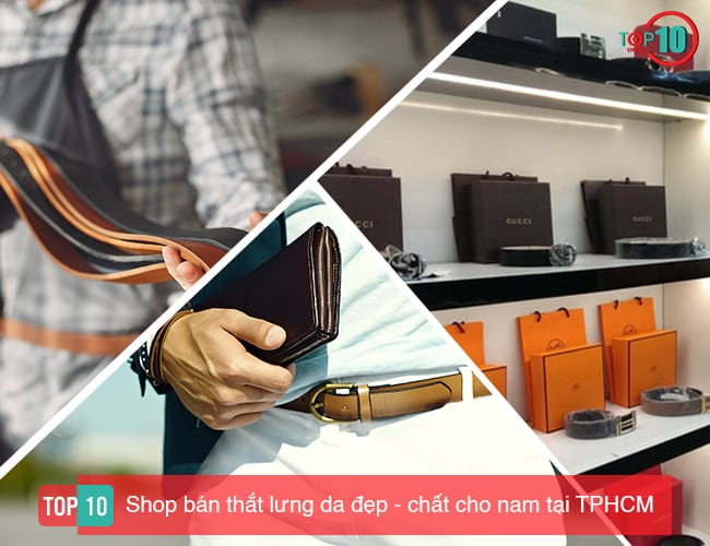 Shop bán thắt lưng da vừa đẹp vừa chất cho nam tại TPHCM