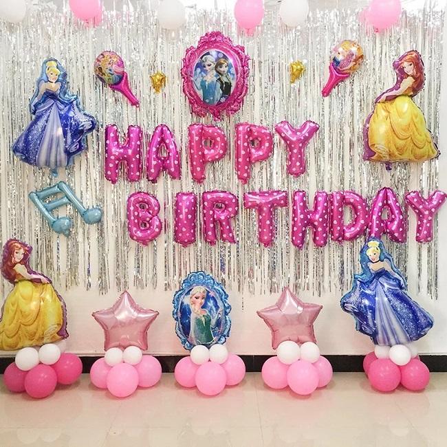 Cách trang trí sinh nhật đơn giản tại nhà bằng phông nền trang trí sinh nhật