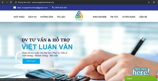 trung tâm học thuật là top dịch vụ luận văn tphcm