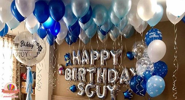 cách trang trí sinh nhật đơn giản tại nhà bằng bong bóng