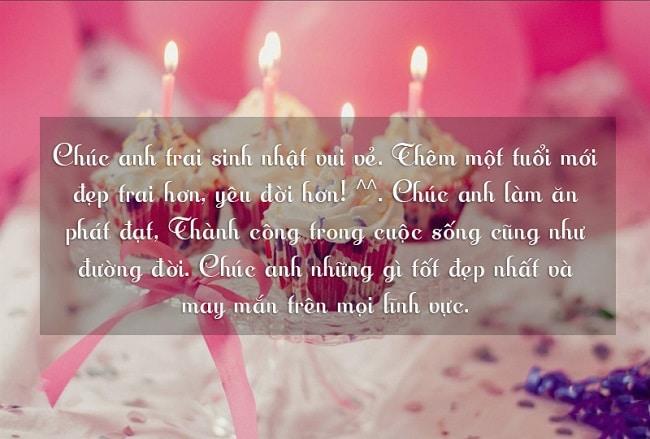 Lời chúc sinh nhật hay cho anh trai là một trong những lời chúc sinh nhật hay & ý nghĩa nhất