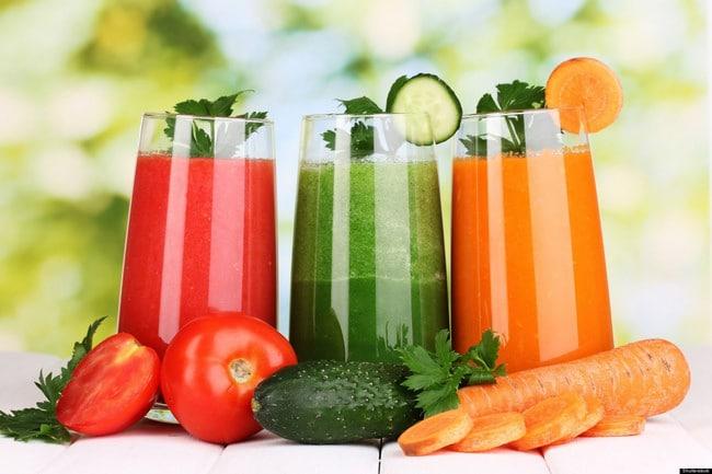 Nước ép hoa quả các hương vị khác nhau