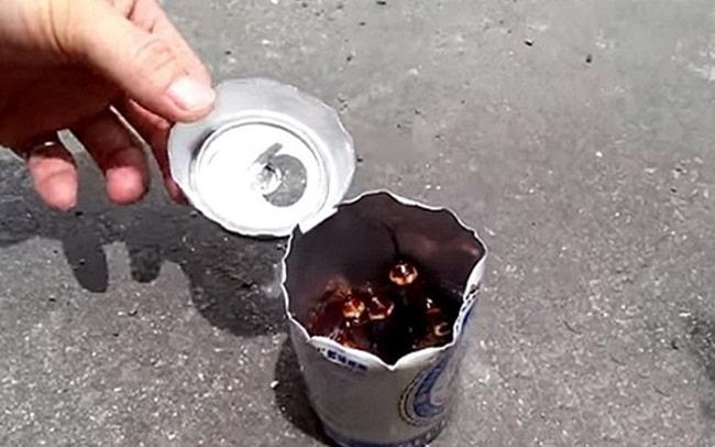 Mẹo diệt gián tuy đơn giản và hiệu quả bằng lon bia uống dở