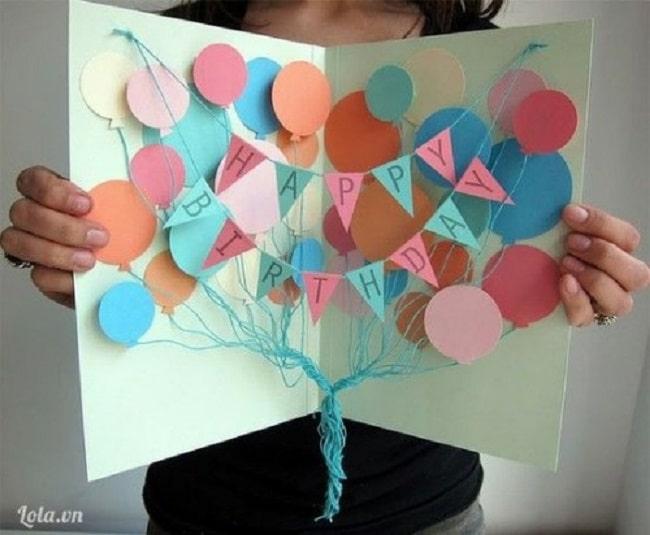 Cách tự làm thiệp sinh nhật đơn giản mà đẹp