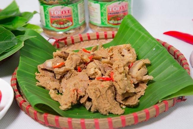 Top 10 món đặc sản Phú Thọ hấp dẫn du khách bốn phương - thịt chua thanh sơn
