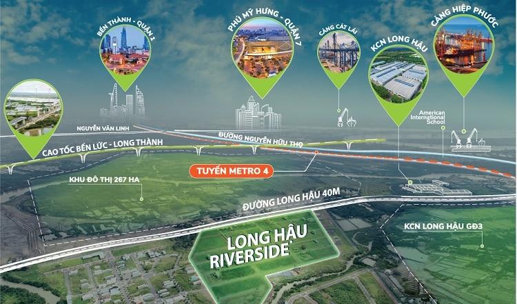 Dự án long hậu riverside - vị trị đắc đạo an sinh lý tưởng