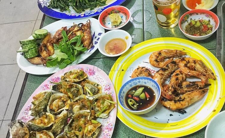 top 10 quán ăn hải sản tươi sống ngon bổ rẻ nhất tại Huế - Hoa Hồng