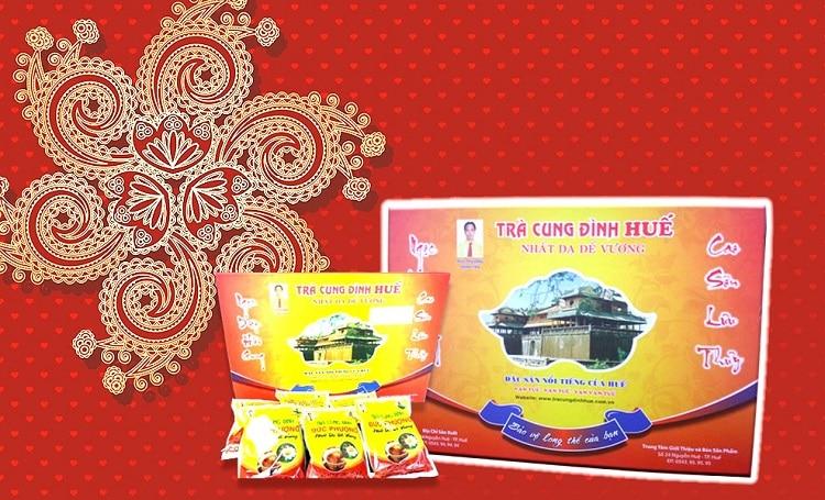 Top 10 thương hiệu quà huế nổi tiếng nhất Huế - Trà Cung Đình