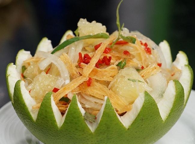 Gỏi bưởi khô cá lóc là Top 10 đặc sản Châu Đốc hấp dẫn nhất định phải thử