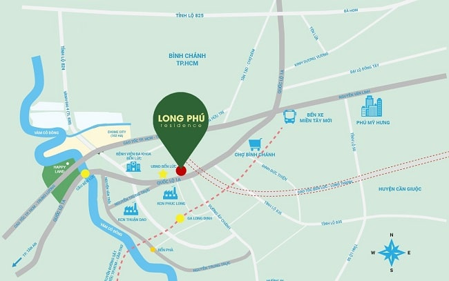 Dự án Long Phú Residence Trần Anh là Top 10 dự án đất nền uy tín & tốn nhất Long An