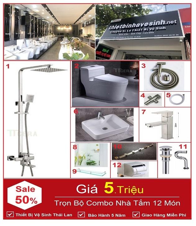 Combo Thiết Bị Vệ Sinh TTCERA – Thái Lan Đang Sale Tại showroom Thietbinhavesinh.net