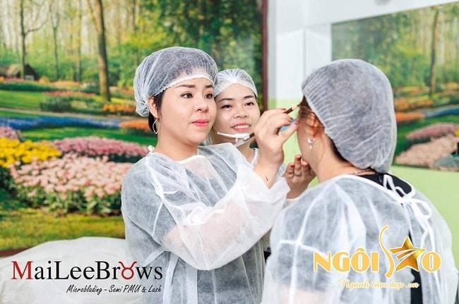Maileebrows là Top 10 trường dạy học điêu khắc lông mày, chân mày tốt nhất tphcm