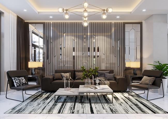 Mẫu thiết kế phòng khách nhà phố Thehousedesign