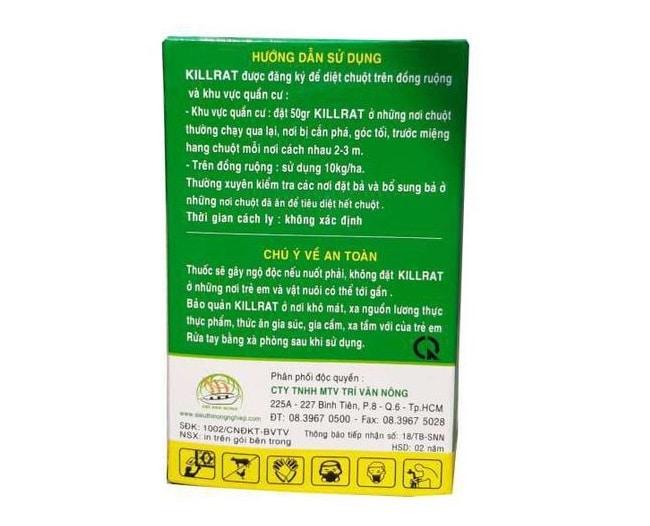 Những điều cần biết về thuốc diệt chuột Killrat - Lưu ý khi sử dụng thuốc diệt chuột killrat