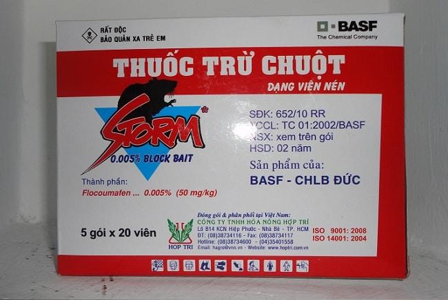 Đề phòng ngộ độc và xử lý khi nhiễm độc thuốc diệt chuột Storm
