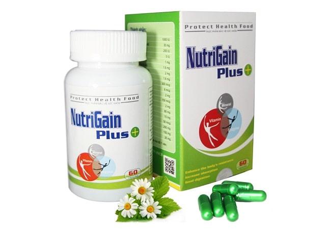 Thuốc tăng cân Nutri Gain Plus + là Top 10 Loại thuốc tăng cân tốt nhất