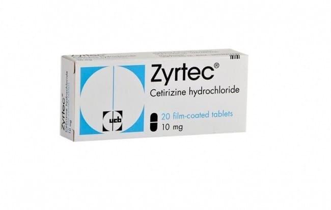 zyrtec là Top 10 Sản phẩm thuốc chống dị ứng tốt nhất hiện nay
