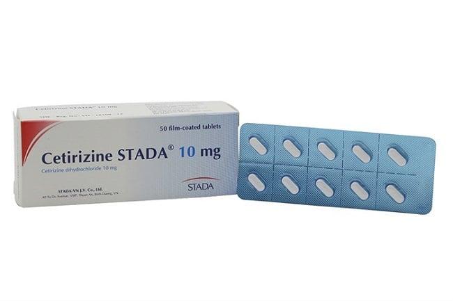 Cetirizine STADA là Top 10 Sản phẩm thuốc chống dị ứng tốt nhất hiện nay