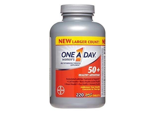 One A Day Women's 50 Healthy Advantage là Top 10 Loại thuốc bổ tốt nhất cho người già, người cao tuổi