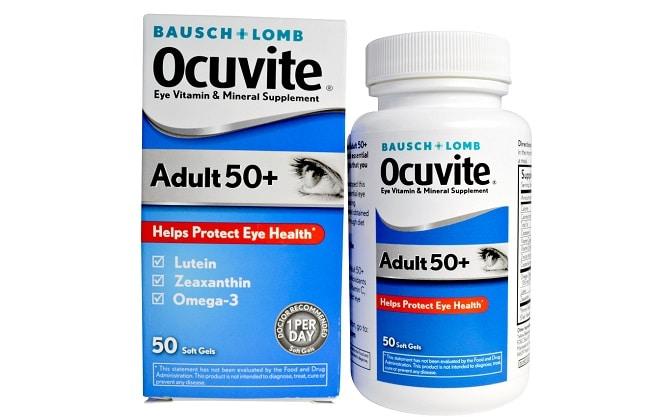 Baush + Lomb Ocuvite 50+ là Top 10 Loại thuốc bổ tốt nhất cho người già, người cao tuổi