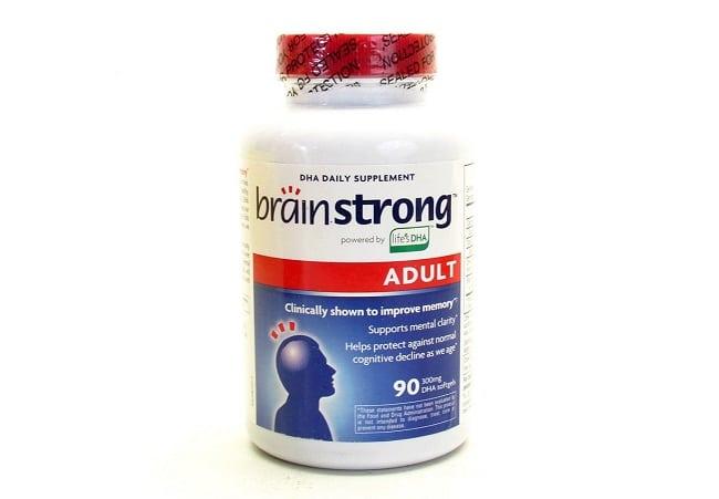 BrainStrong Adult DHA 300 mg là Top 10 Loại thuốc bổ tốt nhất cho người già, người cao tuổi