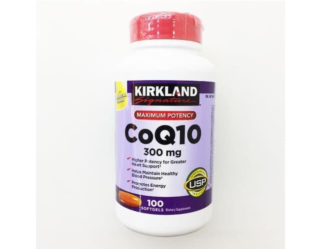 Kirkland CoQ10 300 mg là Top 10 Loại thuốc bổ tốt nhất cho người già, người cao tuổi