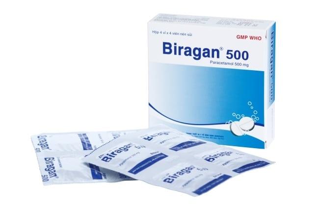 Biragan  là Top 10 Loại thuốc hạ sốt dành cho người lớn thông dụng nhất