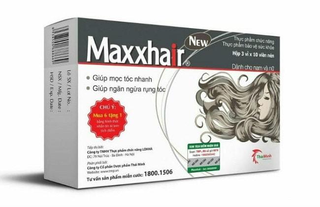 Maxxhair là Top 10 Loại thuốc mọc tóc tốt nhất