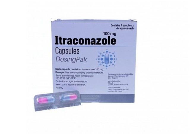 Itraconazole là Top 13 Loại thuốc trị hắc lào tốt và hiệu quả nhất