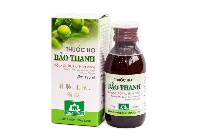 Siro ho Bảo Thanh là Top 10 Loại thuốc trị ho tốt nhất cho bé các bà mẹ nên dùng