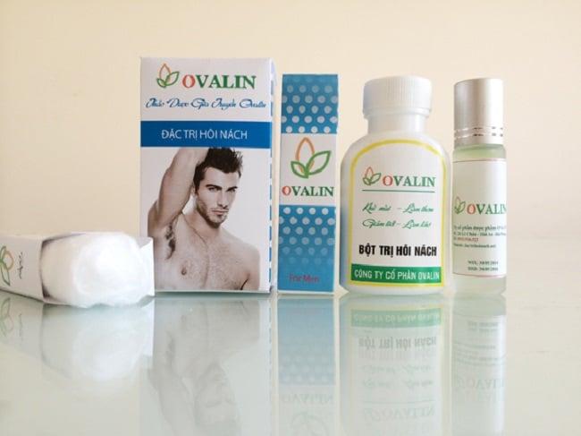 Ovalin là Top 10 Thuốc trị hôi nách tốt nhất hiện nay