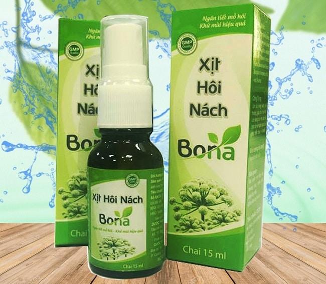 Bona là Top 10 Thuốc trị hôi nách tốt nhất hiện nay