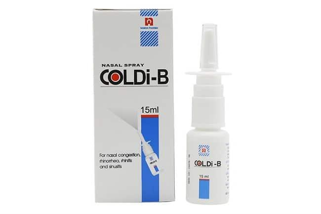Thuốc xịt mũi Coldi-B là Top 5 Loại thuốc xịt viêm mũi dị ứng tốt nhất