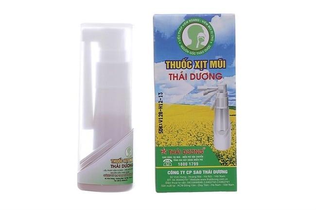 Thuốc xịt mũi Thái Dương là Top 5 Loại thuốc xịt viêm mũi dị ứng tốt nhất