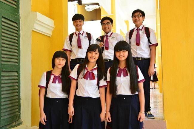 THPT Trưng Vương là Top 5 Trường THPT có đồng phục học sinh đẹp nhất TPHCM