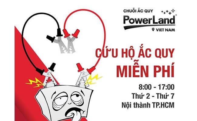 bình ắc quy uy tín chất lượng tại TPHCM chuoi acquy PowerLand
